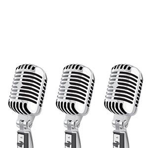 Three classic Microphones | ChurchMusic.ie