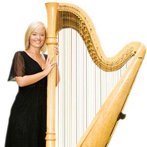 Female with large harp| ChurchMusic.ie